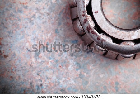 Bearing as part of the industry and space for text - stock photo
