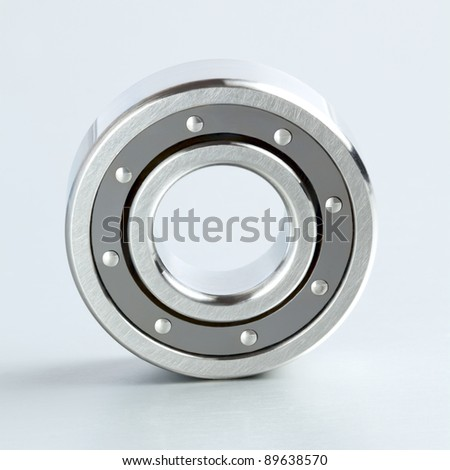 Bearing on the metal isolated background