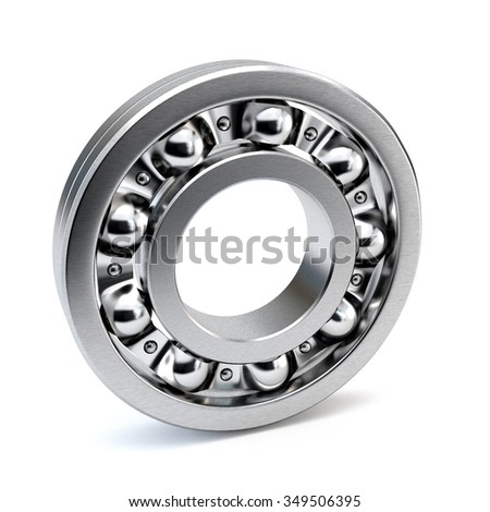 Bearings isolated on white background. 3d illustration.
