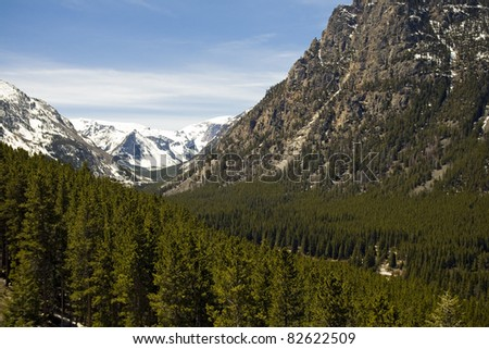 Beartooth Mountains in Montana - stock photo