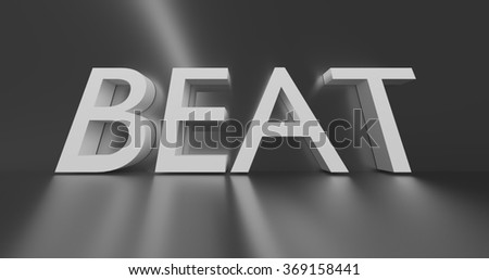 Beat concept word - white text on grey background.