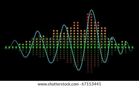 Beat sound equalizer - stock photo
