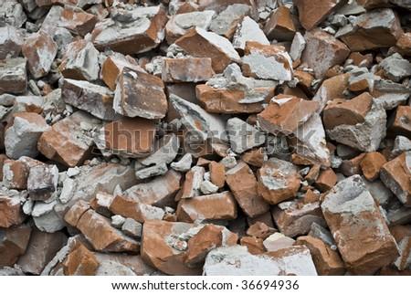 beaten stone - stock photo