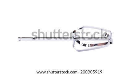 Beater for hand mixer. Isolated on a white background.