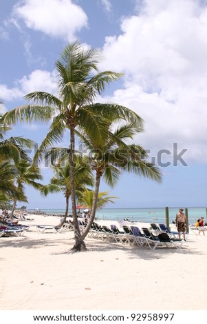 beatiful carribean beach