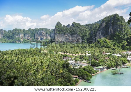Beatiful Railay bay from view point, Krabi, Thailand