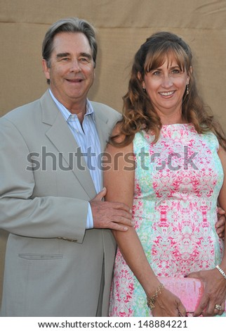 Beau Bridges & wife at the CBS 2013 Summer Stars Party in Beverly Hills. July 29, 2013  Los Angeles, CA