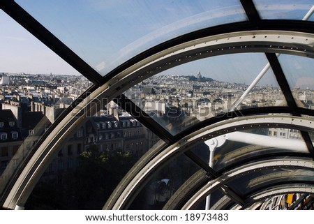 beaubourg pompidou Paris - stock photo