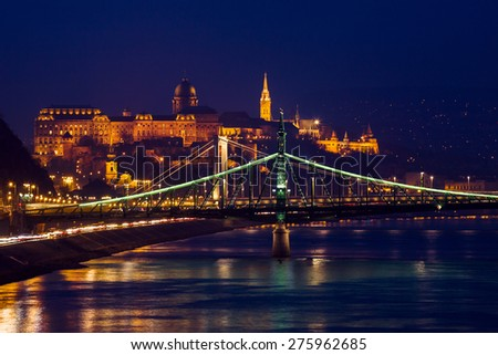 Beautifil night view of Budapest-Hungary.