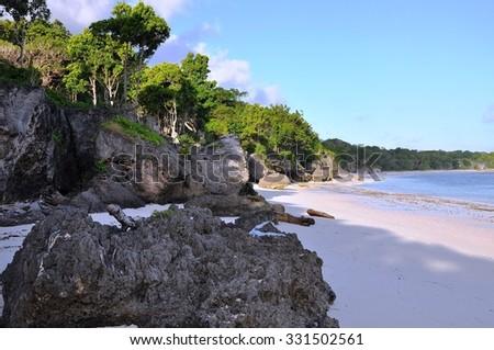 Beautiflul beach in Bira, Sulawesi , Indonesia - stock photo