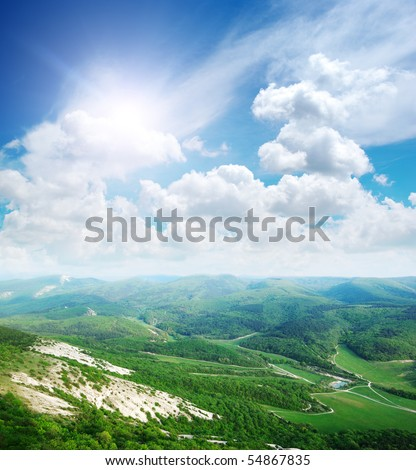Beautifol landscape in mountain. Composition of nature - stock photo