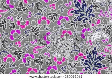 Beautifu batik patterns - stock photo