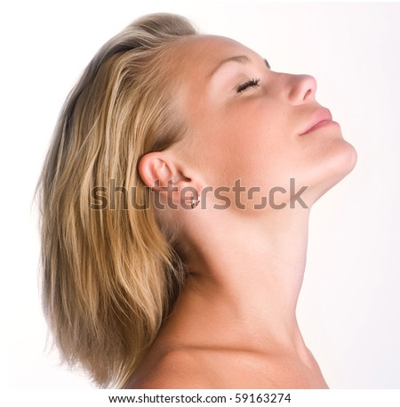 Beautifu Girl's Face - stock photo