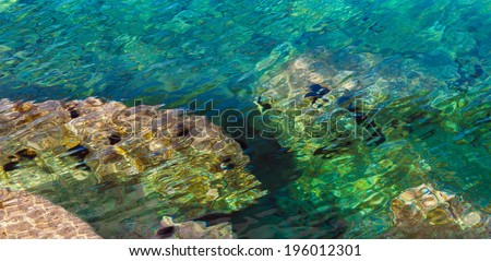Beautiful abstract background color turquoise sea - stock photo