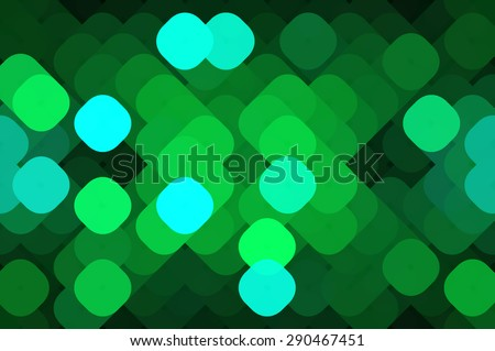 beautiful abstract background green bokeh circles. Christmas background. - stock photo