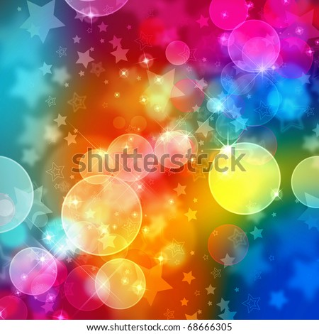 Beautiful abstract background of colors holiday lights - stock photo