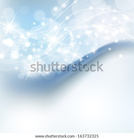 beautiful abstract background with holiday shiny lights  - stock photo