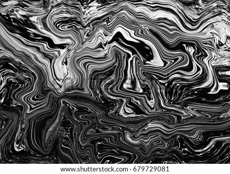 Beautiful Abstract Black And White Marble Texture Wallpaper Background Unusual Art Technique