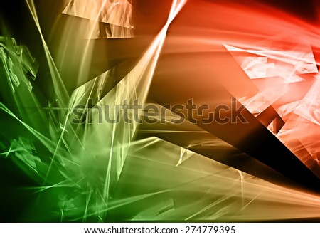 beautiful abstract broken design background - stock photo