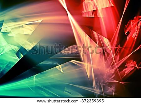 beautiful abstract broken design background - stock photo