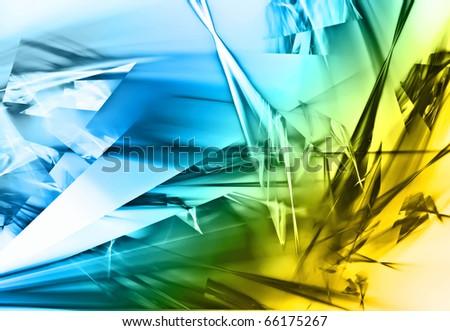 beautiful abstract broken glass design background - stock photo