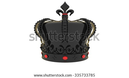 Beautiful abstract design of a Crown in black and ruby stones over it
