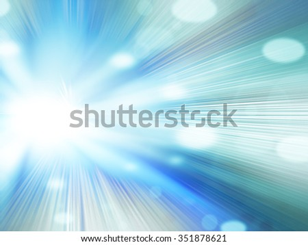 Beautiful abstract fantasy background, soft blurred rays of light, speed effect, bokeh lights