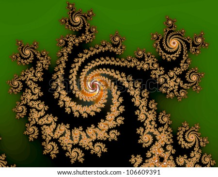beautiful abstract fractal - stock photo