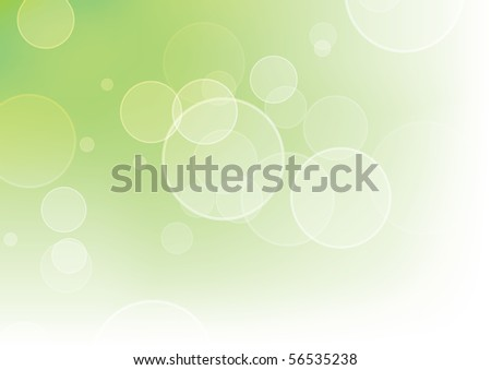 Beautiful abstract green background with bokeh effect. (vector also available) - stock photo