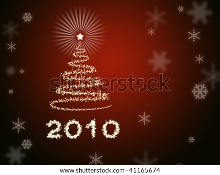 Beautiful abstract New Year background - stock photo