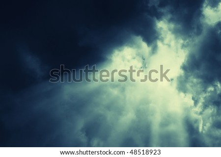 beautiful abstract nightly clouds landsacpe - stock photo