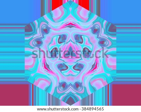 Beautiful abstract pattern. kaleidoscope geometric style. ornament. texture background made from fractal flower for use at graphic design. wrapping paper