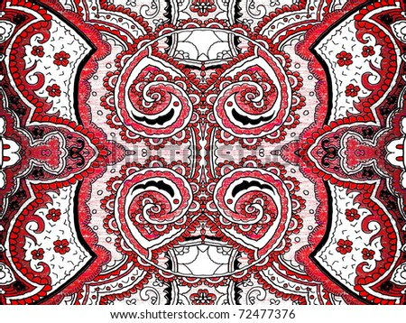 beautiful abstract persian style ornaments. - stock photo