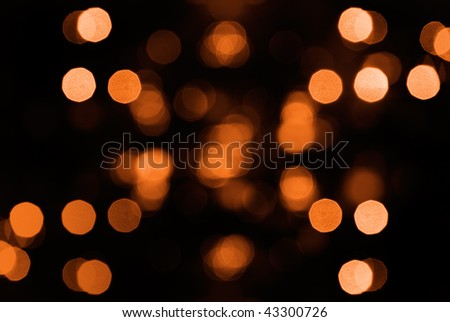 Beautiful abstract spot light decoration in orange. - stock photo