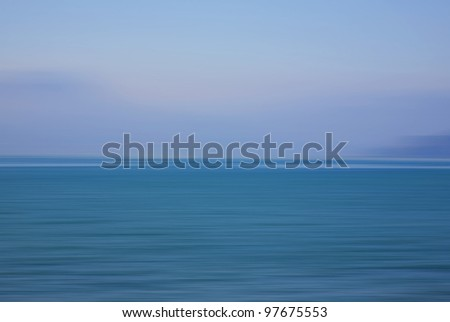 Beautiful abstract tropical seascape at summertime. - stock photo