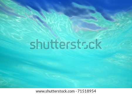 beautiful abstract water shapes from sea underwater - stock photo