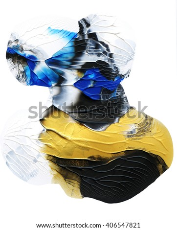 Beautiful acrylic design element,hand painted for patterns and prints - stock photo