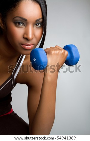 Beautiful african american fitness woman - stock photo