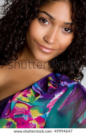 Beautiful African American Woman - stock photo