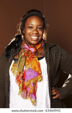 Beautiful African American Woman - stock photo
