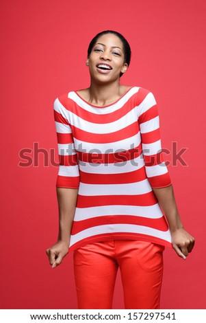 Beautiful African Fashion Model  - stock photo