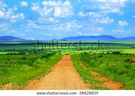 Beautiful african landscape. Africa. Kenya. Masai Mara - stock photo