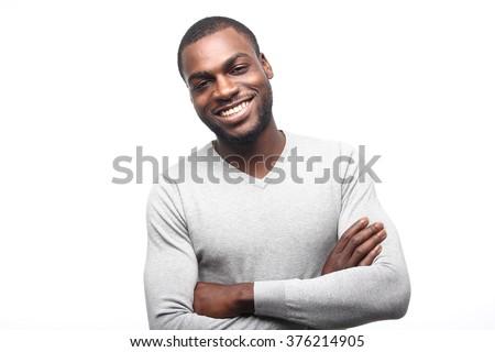 Beautiful african man - stock photo