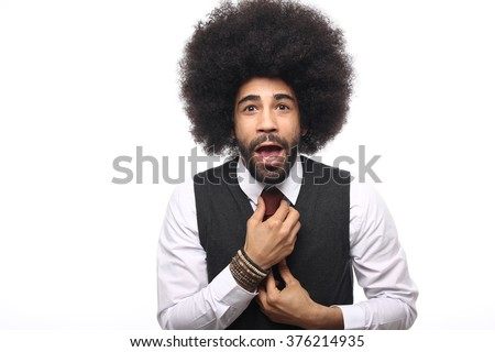 Beautiful afro business man