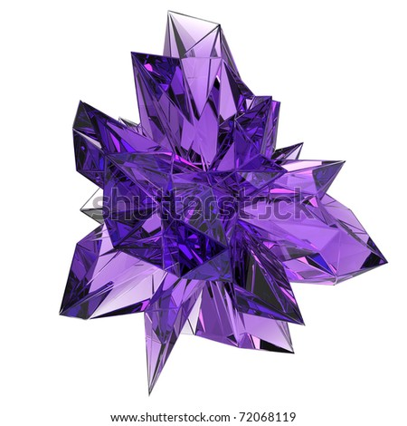 beautiful amethyst crystal - stock photo