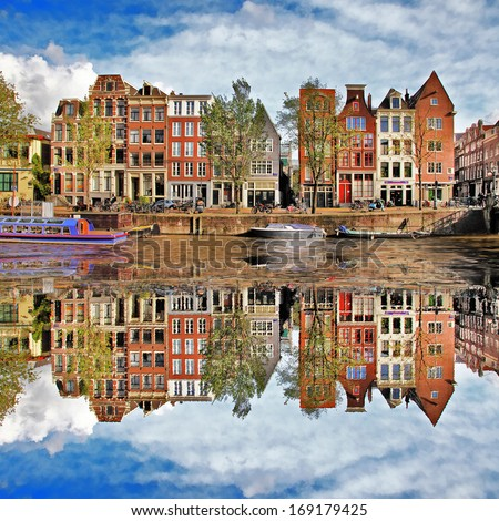 beautiful Amsterdam, Holland - stock photo