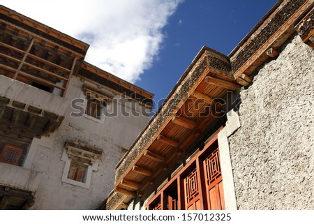 Beautiful ancient architecture of Leh palace