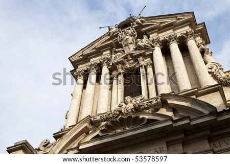 Beautiful Ancient Building in Rome - stock photo