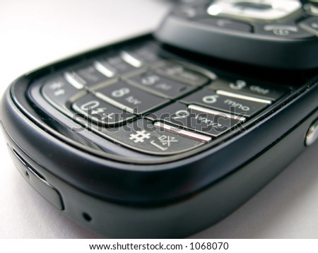 beautiful and advanced mobile device, photographed in perspective, shallow depth of field