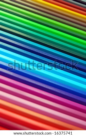 Beautiful and colorful crayon rainbow - stock photo